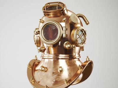 Divers Mask 3D Rendering/ Visualization - DRA