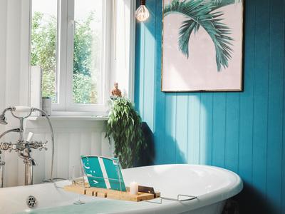 Bath Caddy Insitu Product render.
