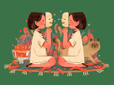 20200507 cat girl 设计 插图 design illustration
