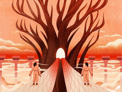 Search for tree 设计 design illustration