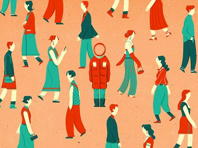 In the crowd 设计 插图 design illustration