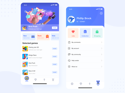 Game APP design ux app ui