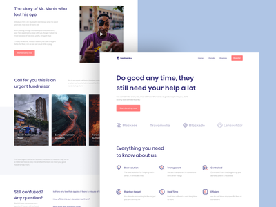 Bantuanku - Online Donation Landing Page donate help colorful clean web design flat design exploration app ux design ux ui design ui landing page donation