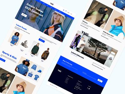 Redesign - YME Universe layoutdesign redesign webdesign website ux ui minimal design branding