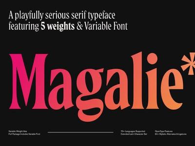 Introducing Magalie design display serif display typeface display fonts display font serif typeface serif font font design fonts font new fonts new font new typeface typeface typedesign type design typography type