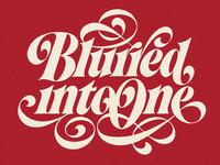 Blurred Into One mark van leeuwen design art lettering art ligatures lubalin logotype typography letters hand lettering lettering