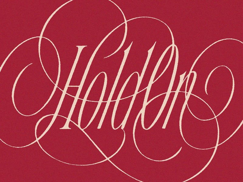 Hold On vintage letters typeface script type design hand lettering drawing handlettering lettering typography type design