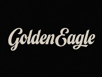 Golden Eagle branding script type design handlettering design lettering typogaphy logotype logomark logo typography logo type