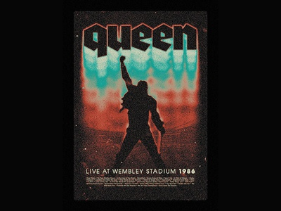 Queen music queen poster poster design poster print graphic design graphic art design lettering typography type