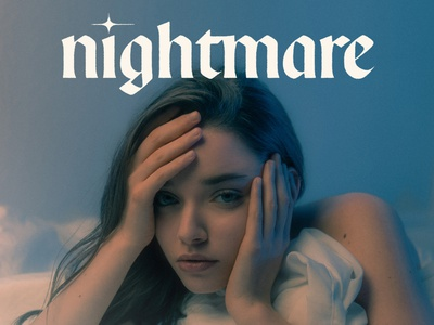 Nightmare cover artwork cover art design typeface type design handlettering lettering typography type
