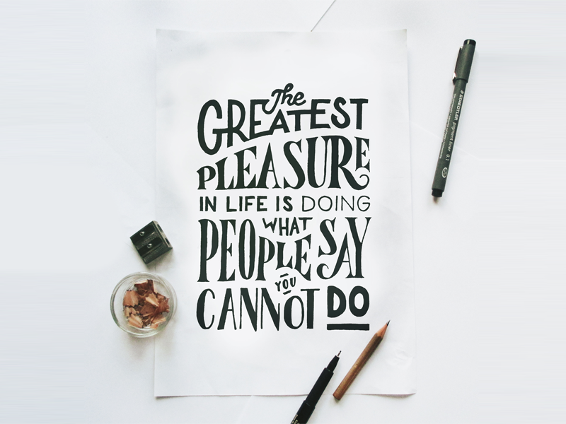 The Greatest Pleasure type typography lettering handlettering letter handmade drawing draw art design
