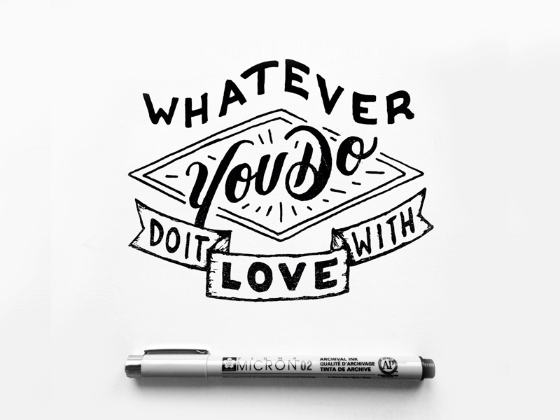 Do it with love type typography lettering handlettering letter handmade drawing draw art design