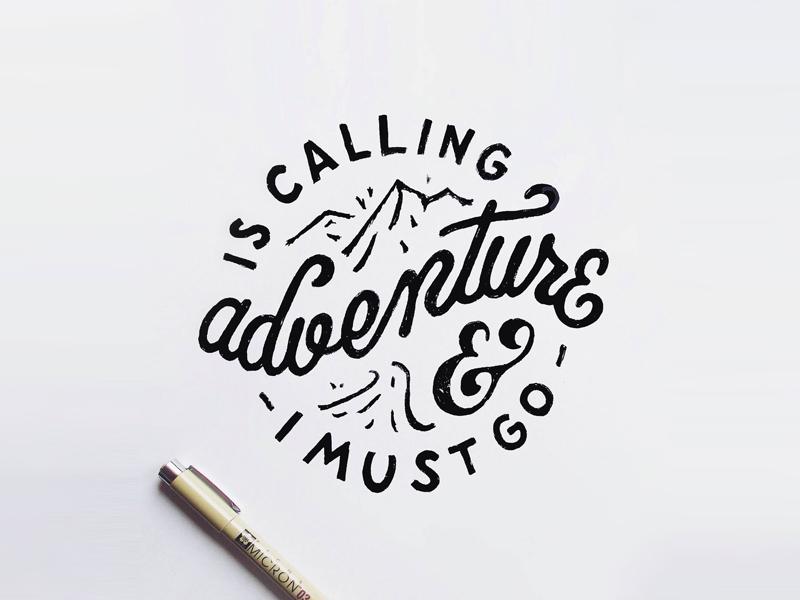 Adventure  type typography lettering handlettering letter handmade drawing draw art design