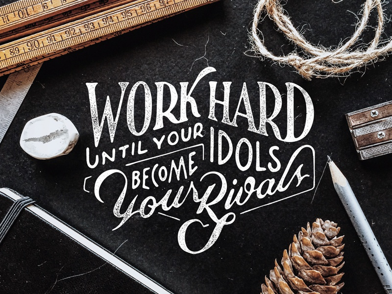 Rivals script hand lettering design lettering typography type