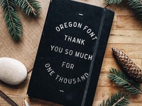 Oregon Font - 1000 sales