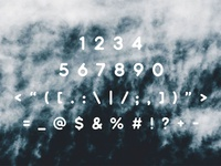 Bouquet Font - Numbers & Symbols