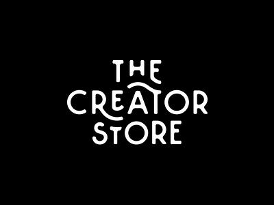 The Creator Store brand identity vintage logo design logo branding