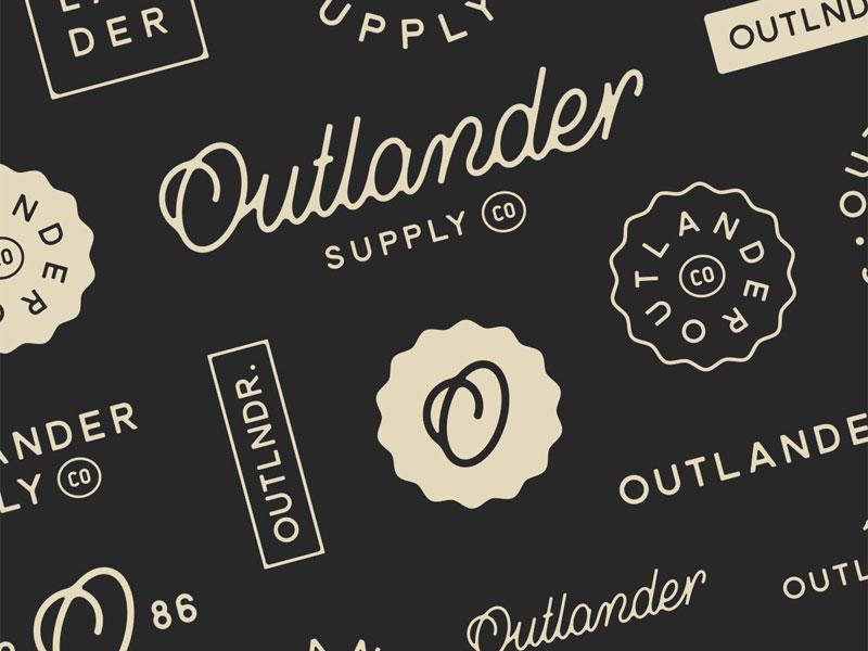 Outlander Supply Co. - Exploration branding logo logo design vintage identity brand