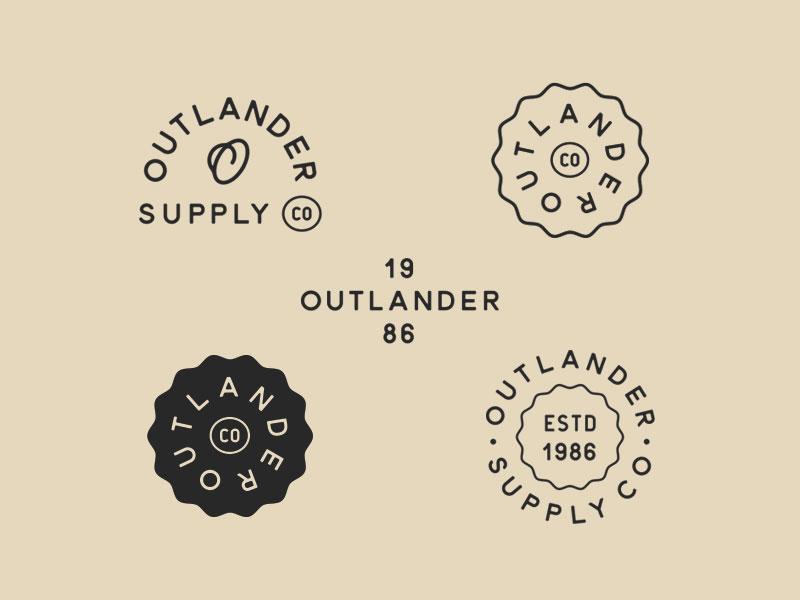 Outlander Supply Co. - Variations brand identity vintage logo design logo branding