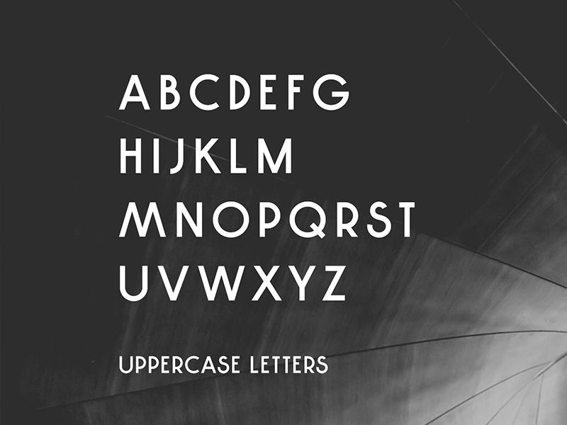 Decor Sans - Uppercase Letters fonts font design font sans serif sans typography typeface type design type