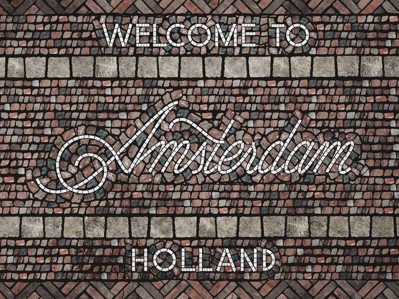 Amsterdam wip fauxsaic design art draw drawing handmade letter handlettering lettering typography type
