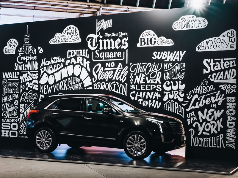 Cadillac Mural mural cadillac handlettering hand lettering lettering typography typeface type design type