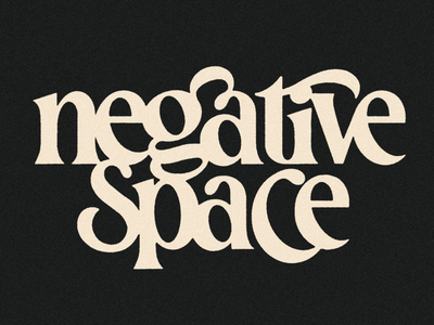 Negative Space lockup logotype handlettering letters lettering typography type