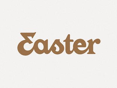 Easter letters handlettering logotype wordmark lettering type design design typography type