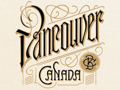 Vancouver hand lettering art drawing art letters hand lettering vintage lettering lettering victorian type ilustration vintage type typography type
