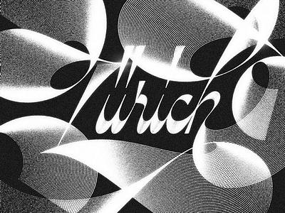 Zürich script lettering flourish flourishes cursive script typography letters hand lettering lettering type