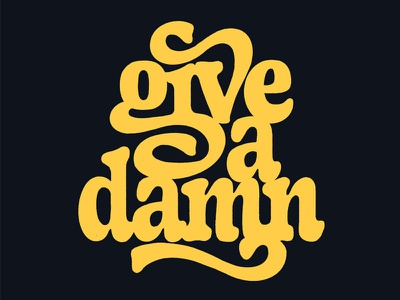 Give A Damn letters mark van leeuwen vintage typeface type design handmade hand lettering drawing handlettering design lettering typography type
