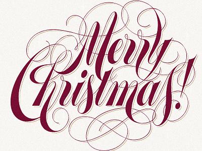 Merry Christmas handmade illustration drawing lettering artist letters xmas merry christmas christmas hand lettering typography type art lubalin script lettering type design type