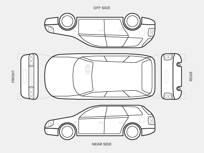 vehicle condition diagram by anthony williams on dribbble. Black Bedroom Furniture Sets. Home Design Ideas