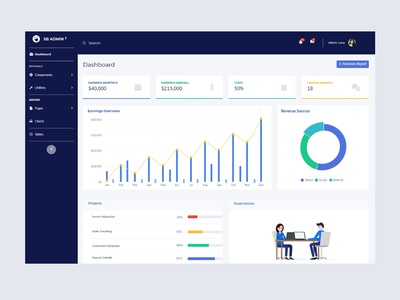 Earning Overview Dashboard