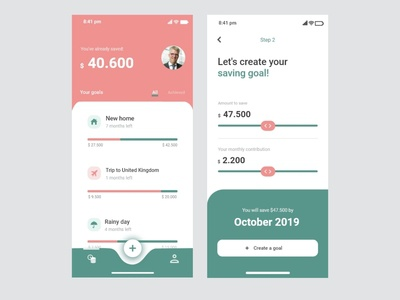 Money Saving Goals App