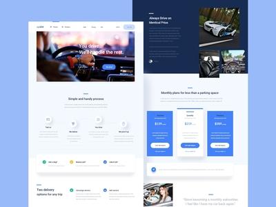 Upshift — landing page