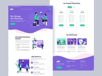Markethon - Digital Marketing Agency Landing Page