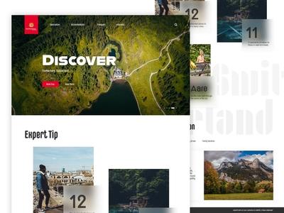 Concept for Switzerland tourism website