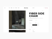 Oliver Veles Furniture Online Store Product Card builder concept website add to bag bag favourites cart designer mobile ios clear fashion modern grid layout slider photo furniture chair e-commerce