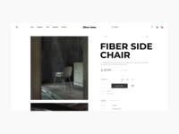 Oliver Veles Furniture Online Store Product Card builder concept website add to bag bag favourites cart designer mobile ios clear fashion modern grid layout slider photo furniture chair e-commerce