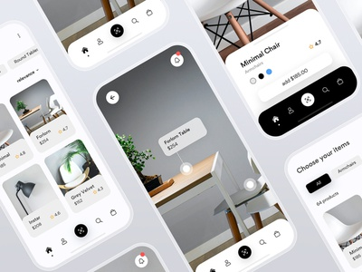 FORLORN - Furniture typography flat web minimalistic fashion editorial catalog navigation navbar android mobile ios store technology future ecommerce augmented reality