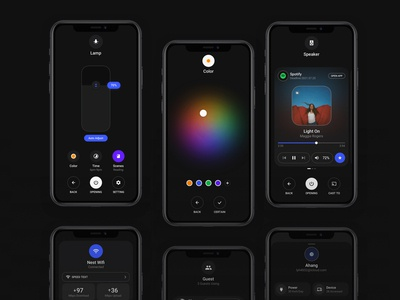 Smart Home Dark Theme - iOS 13