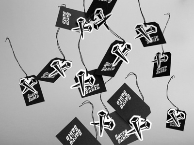 Clothes tags logo streetwear clothes tags branding design