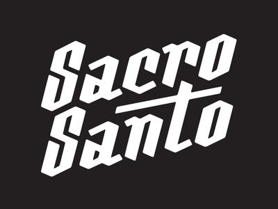 Logo Sacro Santo brand identity blackletter brand logo typography vector streetwear branding