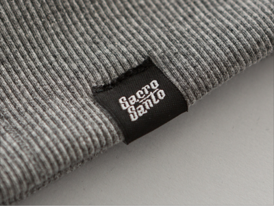 Double face clothing label tags typography blackletter clothes brand identity brand streetwear logo branding