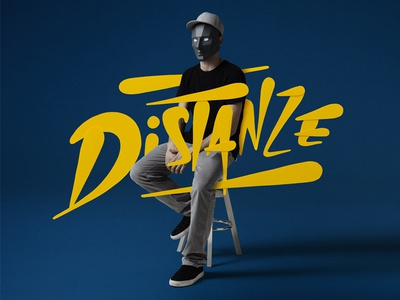 """""""Distanze"""" lettering and character cd packaging music photography character lettering logo"""