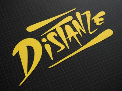 Distanze paper lettering