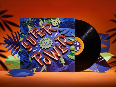 Superpower Vinyl vinyl cover cd music paper craft paper art papercut jungle illustration typography design
