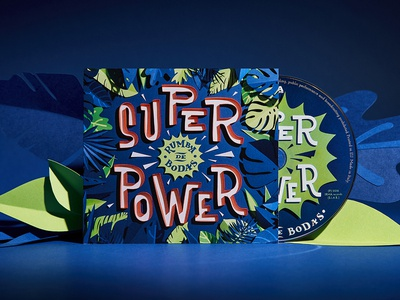 Superpower Cd pack paper craft paper art papercut paper cd packaging cd cover music jungle illustration typography