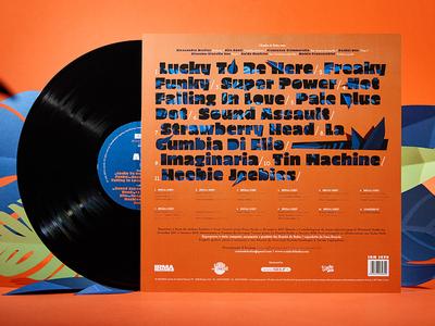 Superpower Vinyl rear music vinyl vinyl cover typography illustration papercut paper art